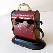 SALE Old Tin Cigarette Dispenser