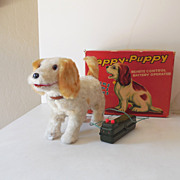 "SALE Battery Operated ""Happy Puppy"" Mint In Box Japan"