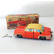 SALE Scarce 1950s HPZ Tin Key Wind  Up Car In Box