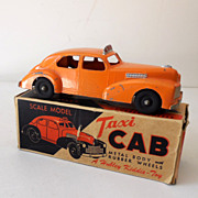 SALE Vintage Hubley Toy Taxi Cab Metal In Original Box