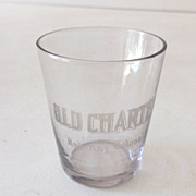 SALE Pre Prohibition Advertising Shot Glass Old Charter