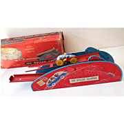 SALE Tin Wolverine Wind-up Jet Roller Coaster w/ Original Box