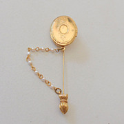 Gorgeous Vintage Locket Stickpin