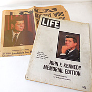 John Kennedy Wins Newspaper & Life Magazine Memorial