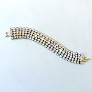 SALE Fabulous 5 Row Rhinestone Bracelet
