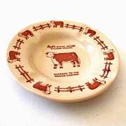 Wallace China Rod's Steak House Ashtray
