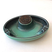 Vintage Roseville Pottery Hyde Park Ashtray