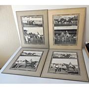 """SALE (4) Original 1940s Race Horse Photographs """"Time Out"""""""
