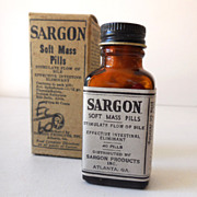 New Old Stock Medicine Laxative Bottle in Box