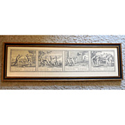 SALE 17th Century French Engraving by Claudine Bouzounet Stella