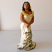 "SALE 9"" Julene of Honolulu Hawaiian Hula Girl Figurine"