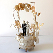 Pretty 1930s-40s Wedding Cake Top Bride & Groom