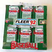 1992 Fleer  Baseball Card Box Jumbo Pack box of 24 packs