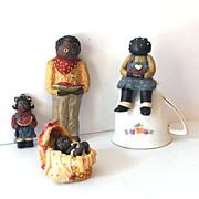SOLD (4) Black Americana  Resin Figurines