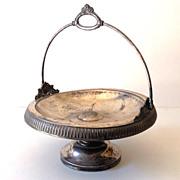 SALE Victorian Silver Plated Bride's Basket Middletown