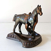 SALE Nice Metal Horse Double Holder Pipe Stand