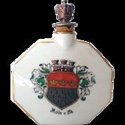 Vintage Porcelain Crown Top Perfume Bottle Germany