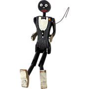 SOLD Vintage Black Americana Wooden Dancing Toy