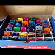 1950s Midgetoy Counter Display w/ 36 Die Cast Toy Cars