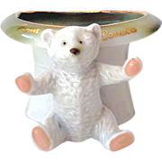 Sweet Early German Pink Paws Bear Figurine Fairing