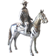 Metal Horse and Removable Canadian Mountie Rider