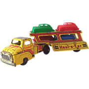 SALE 1950s Wyandotte Truck Car Transport With 4 Cars