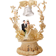 Fancy 1948 Wedding Cake Topper Bride and Groom