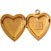 Vintage Gold Filled Heart Shaped Locket
