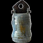 Unusual Mid Century Signed John Glick Pottery Vessel