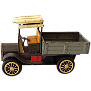 Vintage Pressed Tin Delivery Truck