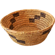 Hand Woven Papago Indian Basket
