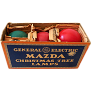 1930s GE Mazda Christmas Tree Lamps In Box Working
