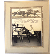 Original 1949 B & W Horse Race Real Photograph