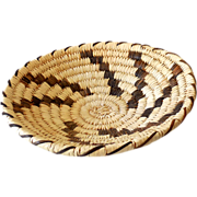 SOLD Vintage Hand Woven Papago Indian Basket