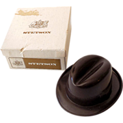 Vintage Miniature Stetson Hat In Gift Box