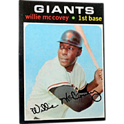 1971 Willie McCovey Topps Baseball Card SF Giants