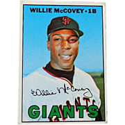 1967 Willie McCovey Topps Baseball Card SF Giants
