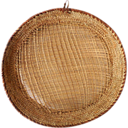 SOLD Large Vintage American Indian Winnowing Tray Basket