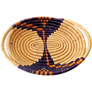 SOLD Hand Made American Indian Basket Tray