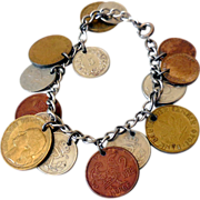 Coins of the Worls Charm Bracelet