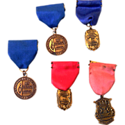 (5) Vintage Michigan School Band & Orchestra Medals
