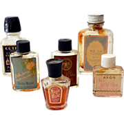 (6) Vintage Miniature Beauty & Fragrance Bottles