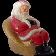 Vintage Advertising Metal Bank Sleeping Santa Claus
