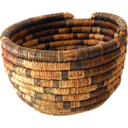 SOLD Early Vintage  Round Indian Basket