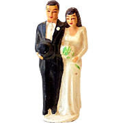 Small 1950s Wedding Cake Topper Decoration