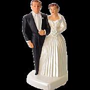 SOLD 1954 Chalkware Wedding Cake Topper Bride & Groom