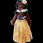Hand Made Hawaiian Hula Girl Cloth Doll