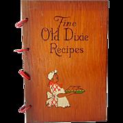 SOLD 1939 Black Americana Cookbook Wood Covers