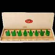 SALE Vintage Bakelite Kob Knobs Corn Holders in Original Box