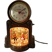 SOLD 1950s Mastercrafters Swingers Animated Motion Mantle Clock
